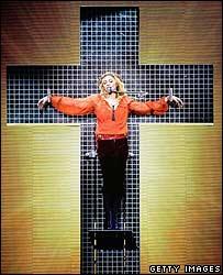 "Madonna's ""crucifixion"""